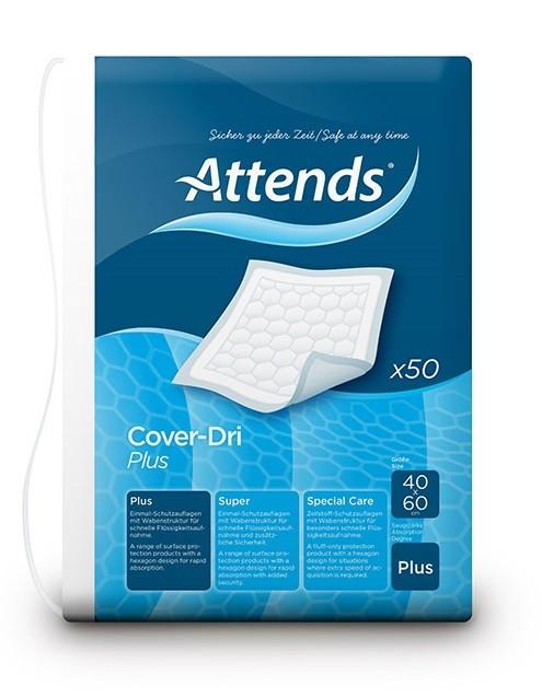 Afbeelding van Attends Cover Dri Plus 40 x 60 50 stuks