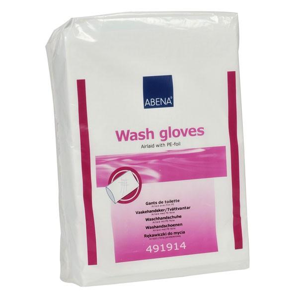 Afbeelding van Abena Wash Gloves PE binnenkant 50 stuks