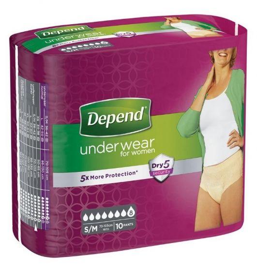 Depend Pants Vrouw Super  - Small / Medium - 5 pakken
