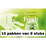 Easy fresh washandjes ongeparfumeerd | 10 pakken van 8 stuks