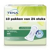 Tena Lady Normal | 10 pakken van 24 stuks