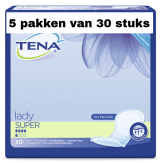 Tena Lady Super   5 pakken van 30 stuks