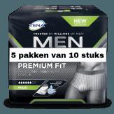 TENA Men Premium Fit Protective Underwear Level 4 Large | 5 pakken van 10 stuks