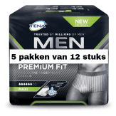 TENA Men Premium Fit Protective Underwear Level 4 Medium | 5 pakken van 12 stuks