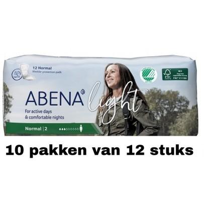Abena Light Normal | 10 pakken van 12 stuks