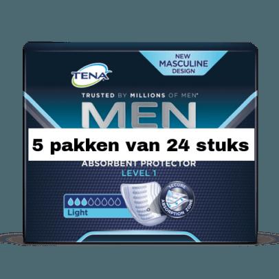 Tena For Men Level 1 | 5 pakken van 24 stuks