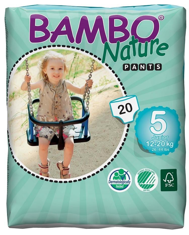 Afbeelding van Bambo Nature Pants 5 (luierbroekje) 6 pakken