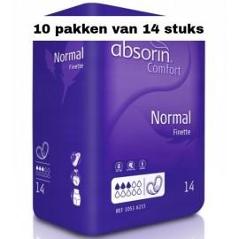 Absorin Comfort Finette Normal | 10 pakken van 14 stuks