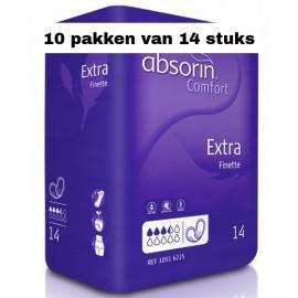 Absorin Comfort Finette Extra | 10 pakken van 14 stuks