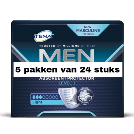 Tena For Men Level 1 | 5 pakken van 24 stuks
