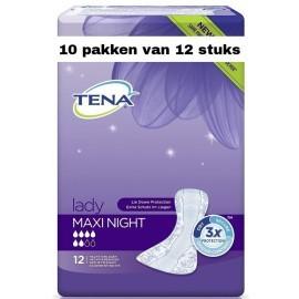 Tena Lady Maxi Night | 10 pakken van 12 stuks