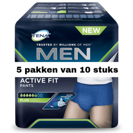 Tena Men Active Fit Large | 5 pakken van 10 stuks