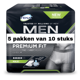 TENA Men Premium Fit Protective Underwear Level 4 Large | 5 pakken van 10 stuks