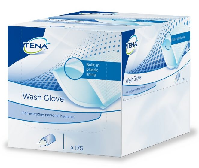 Tena Wash Gloves (plastic)