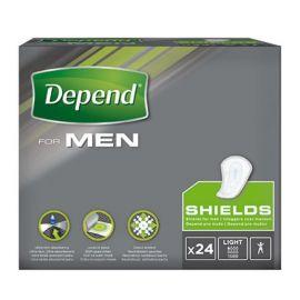 Depend For Men - Shields | 10 pakken van 24 stuks