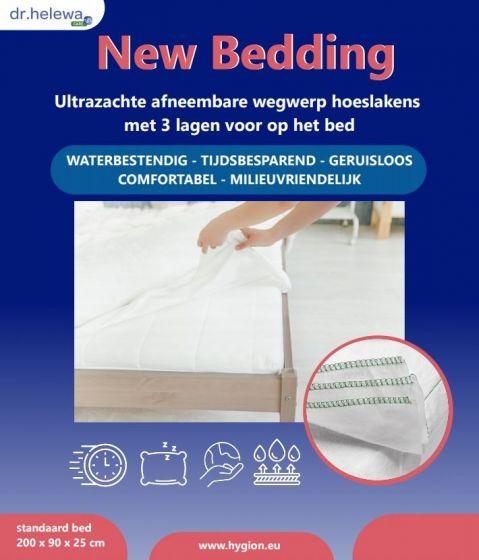 New Bedding | wegwerp hoeslaken - 3 laags [200 x 90 cm]