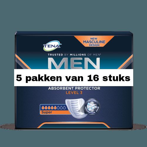 Tena For Men Level 3   5 pakken van 16 stuks