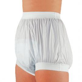 Plastic broekje (PVC) - dames / heren -  breed taille- en been elastiek