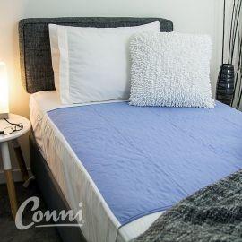 Conni wasbare matrasbeschermer paars | met instopstroken