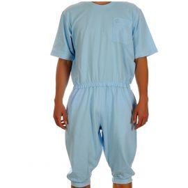 Plukpak (hansop) Heren Blauw Medium - korte mouw, korte pijp