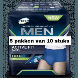 Tena Men Active Fit Large | 5 pakken van 10 stuks