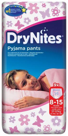 DryNites Girls Broekjes 8-15 jaar  27-57 kg.