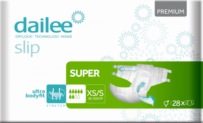 Dailee slip premium super XS/S