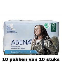 Abena Light Extra Plus | 10 pakken van 10 stuks