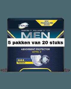 Tena For Men Level 2 | 5 pakken van 20 stuks