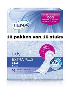 Tena Lady Extra Plus   10 pakken van 16 stuks