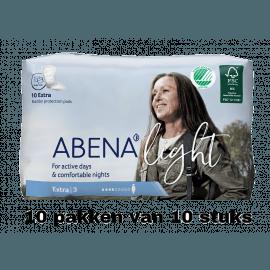 Abena Light Extra   10 pakken van 10 stuks