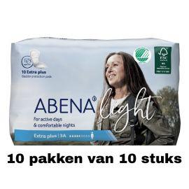 Abena Light Extra Plus   10 pakken van 10 stuks