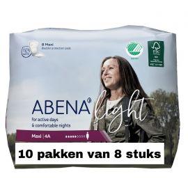 Abena Light Maxi   10 pakken van 8 stuks