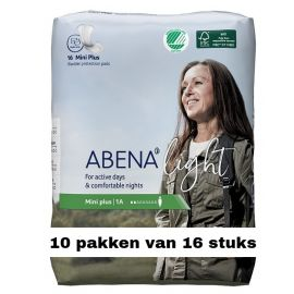 Abena Light Mini Plus   10 pakken van 16 stuks