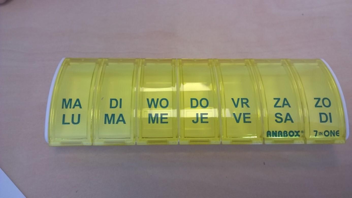 medicijndoosje anabox - weekdoos