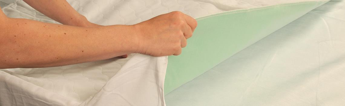 wasbare onderlegger - bedbeschermer